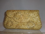 金色ビーズかかえバック gold bead vintage bag (made in Japan)