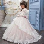 kids セレモニードレス 子供用 ウェディング フラワーガール パール ビジュー ホワイト 発表会ドレス