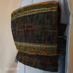 正絹紬 モザイクのような織りなごや