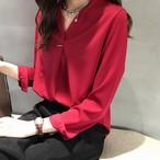 【tops】通勤優しい感じ雰囲気抜群4色展開シャツ
