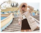 レディース コート おしゃれ 90%ダウン ラクーンファー ダウンコート ホワイト あったか ふわふわ 韓国 オルチャンファッション 秋 冬