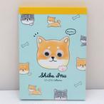 【柴犬・にっこりこれくしょん】キョロ目パーツ付きメモ帳【crx-59556】