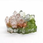 水晶クラスター型オルゴナイト ペリドット&エメラルド