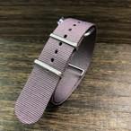 NATOタイプ ナイロンストラップ カカオ・ブラウン シルバー金具 22mm 腕時計ベルト