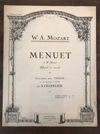 表紙デザインが素敵!古い楽譜 MENUET(フランス)