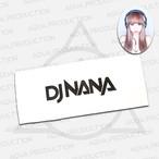 DJ NANA ロゴフェイスタオル(数量限定ポスター付き)