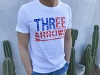 BIG THREEARROWS USA Tシャツ(white)