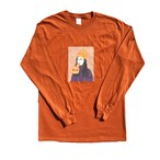 Pizza Girl L/S Tee(MANDARIN ORANGE)