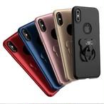くま リング スリム アップル iPhone シェルカバー ケース ブラック ゴールド レッド ピンク ブルー ★ iPhone 6 / 6s / 6Plus / 6sPlus / 7 / 7Plus / 8 / 8Plus / X ★ [MD181]