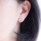 アコヤ真珠*プチパールのシンプルひとつぶイヤリング(ノンホールピアス)~3.5mm珠