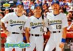 MLBカード 93UPPERDECK Palu Molitor & Pat Listach & Robin Yount #43  BREWERS TEAMMATE