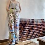 Vintage fabric patchwork remake pants