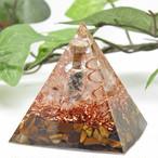 [受注製作] ピラミッド型Ⅱ 小瓶入りオルゴナイト タイガーアイ