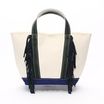 SideFringeToteBag[M]/GreenNavy