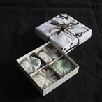白磁輪花箸置き(4個セット)