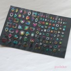宝石のカット 箔押し・3色ボカシ レジン封入用フィルム