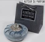 ◇Autur du Parfum◇ Precious Purse(ベロア素材・ライトグレーパチョリの香り)ルームフレグランス
