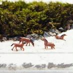 【S】馬 ウマ 黒茶 全4種類 ミニチュア ジオラマ 動物模型  苔テラリウム おもちゃ フィギュア 苔ボトル