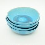 I様オーダー品 コマカアイランドブルー5寸鉢・3寸皿セット【玉城焼】