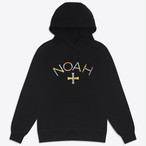 Color Embroidered Core Logo Lightweight Hoodie(Black)