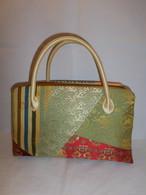 名物裂パッチワーク和装バックAntiques fabric bag(made in Japan)(No3)