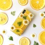 【手帳型】ハーブど柑橘系 押しフルーツiPhoneケース