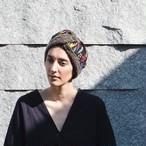 Merino Wool 'Secret Garden' リバーシブルヘッドスカーフ/ミニスカーフ