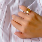 "アンバー ""moon"" pinky ring"