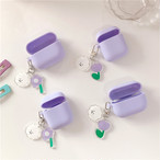 Cute Purple with keychain airpods1/2 Pro case