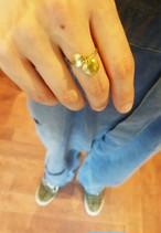 真鍮うろこリング/ Brass Ring 'scales'