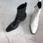 予約注文商品 パターンステッチチェルシーアンクルブーツ アンクルブーツ 韓国ファッション