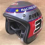 OGK ヘルメット Bob - RACING ガンメタ M