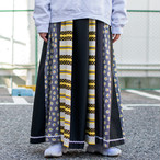 70's Black Patchwork Skirt
