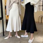 マーメードフレアニットスカート マーメイドスカート フレア ニットスカート 韓国ファッション