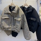 ショートボリュームぺディング ぺディング ぺディングジャケット 韓国ファッション