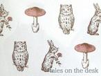 レターセット - 動物とキノコ - tales on the desk
