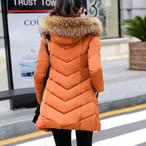【outer】冬ダウンコート取り外し可能フード付き大きいサイズ防寒コート