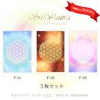 フラワー・オブ・ライフ (3枚で25%OFF)【神聖幾何学エネルギーカード】F-S3