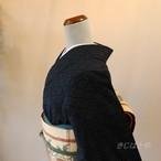 【N様ご予約品】結城紬 立涌の総柄小紋 単衣