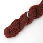 コリデール赤茶 ゲージ用糸サンプル (corri15)手紡ぎ毛糸オーダー(送料込)