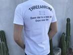 THREEARROWS メッセージ Tシャツ(white)