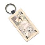 犬紙幣(渋谷)合皮キーホルダー