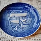 北欧クリスマス ROYAL COPENHAGEN ロイヤルコペンハーゲン 絵皿 プレート 1985年 絵皿 【EX1911-D38】