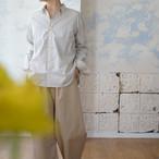 オーガニックコットン・kotori刺繍・カシュクールになる水玉シャツ *プラネード