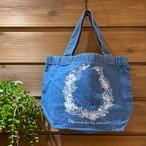 【数量限定】Allamanda-leatherリーフプリントランチトートバッグ(デニム)