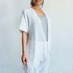 ピクビル織りのカーディガン / Classic White / GUATEMALA グアテマラ