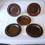 【AB2003-F1RB】▼刻印アリ 美しい明るい茶色 ARABIA アラビア ルスカ 20cm プレート5枚セット