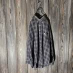 [Burberry]nova check navy shirt
