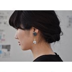 tiravisù【 gray star button _ blue stone _ earring 】vintage handmade イヤリング japan