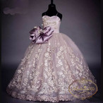 kids import dress flower purple positive spanish girl colorful happy formal party garden princessdress  インポートドレス パープル 子供 キッズ カラフル お姫様